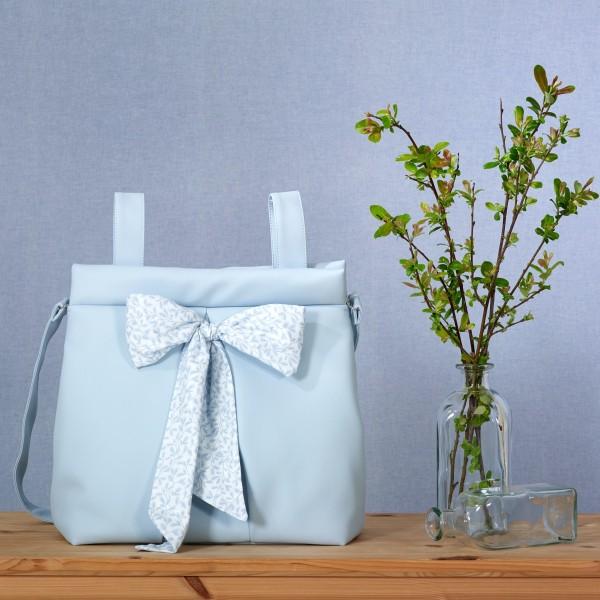 Bolso Elegant Hojitas Azul