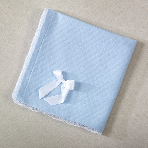 Manta Algodón Azul